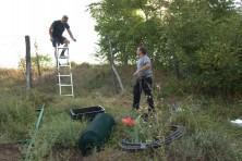 Installing the hack from the Green Balkans (photo: S. Nikolov / BSPB)